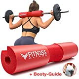 Fitness Method I 2020 Upgraded I Hip Thrust & Kniebeugen Barbell Pad +Booty Guide+ Klettverschluss, das Langhantel Polster/Nackenpolster ist in hochwertiger Qualität, Hantelstange Nackenschutz Squat