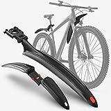 Velmia Fahrrad Schutzblech Set [24-29 Zoll] - Universal Fahrradschutzblech, Mountainbike, MTB Steckschutzblech zum Schutz vor Spritzwasser & Schmutz