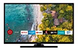 Hitachi HT39F4100C 98 cm / 39 Zoll Hotel Fernseher (Smart TV inkl. Prime Video/Netflix/YouTube, Full HD, Bluetooth, Works with Alexa, Triple-Tuner)