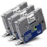 3x Labelwell Tzc-231 Tz Tape 0.47 12mm White Kompatibel Schriftband Ersatz für Brother Tz Tze-231 Tze231 TZ231 Schwarz auf Weiß für Brother P-Touch Cube Plus PT 1000 1010 D400 H105WB D210 D400VP H110