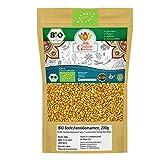 BIO Bockshornklee Ganz 200g Bockshornkleesamen Samen Saat Indische Gewürze | Organic Bio-zertifiziert DE-ÖKO-039 | Fenugreek Methi Seeds | Für Gesunde Küche und Tee | Vegan