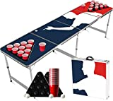 Offizielles Spieler-Bier-Pong-Paket | 1 Tisch-Bier-Pong-Tisch + Bier-Pong-Set | Tischspieler + 22 rote Tassen + 2 Spielfeldständer + 4 Bälle | Komplettset | Trinkspiel | OriginalCup®.