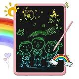 Funkprofi LCD Schreibtafel 11 Zoll Bunte Bildschirm, Löschbare LCD Writing Tablet Papierlos Kinder Geschenk Spielzeug für Zeichnen Schreiben (Pink)