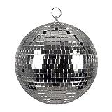 Boland 00703 - Discokugel, Silber, Durchmesser ca. 20cm, Disco Fever, 70er Jahre, Hängedekoration, Glitzerkugel, Motto Party, Karneval