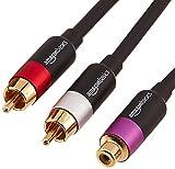 AmazonBasics PBH-22632 - Cinch-Y-Adapterkabel, 2 x Cinch-Stecker auf 1 x Cinch-Buchse, 30,5cm