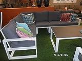 Lesli Living Lounge Eckbank Couch Serie Pina Colada hellgrau/anthrazit hochwertig