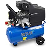 BITUXX® Kompressor Druckluftkompressor 24L Druckluftverdichter 24 Liter 2 PS Druck bis 8 Bar 24L
