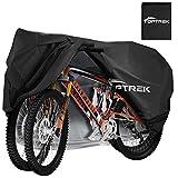 toptrek Fahrradabdeckung für 2 Fahrräder Wasserdicht 210T Oxford Hochwertige Fahrradgarage Fahrradplane Fahrrad Regenschutz 205 x 110 x 80 cm Fahrradschutzhülle mit Beutel