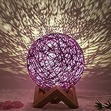 SummerRio Moon LED Lampe Sepak Takraw Nachtlicht Nachtlampe Tragbares mit Fernbedienung USB Aufladung Dekoleuchte für Schlafzimmer,Cafe, Bar als Weihnachten Geschenk