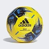 adidas Men's Team JS350 Soccer Ball, Yellow/Black/Blue/Silver met, FUTS