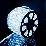Kefflum LED Lichtschlauch,led schlauch, Lichterkette Licht Leiste 36LEDs/M Schlauch für Innen und Außen IP65 50M Kaltweiß