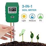 Bearbro Bodentester Boden-Feuchtigkeitsmesser 3 in 1 Bodentester für Feuchtigkeit/Sonnenlicht/pH-Tester für Pflanzen,Garten, Bauernhof, Rasen, drinnen und draußen, kein Batterien erforderlich