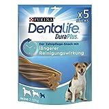 PURINA DENTALIFE DuraPlus Hunde Zahnpflege-Snacks mit Tiefenreinigungswirkung, Huhn, kleine Hunde, 5er Pack (5 x 170g)