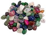 Edelstein Trommelsteine im Mix, 1 kg, medium 2-3 cm, 70 bis 110 Steine - Trommelstein Mix Glücksmischung Glücksstein