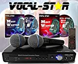 Vocal-Star VS-400 CDG DVD HDMI Karaoke-Maschine inkl. 2 Mikrofonen & Songs