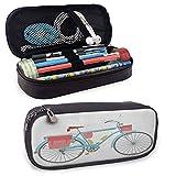Fahrradstift Bleistift Briefpapier Beutel Tasche Fall, klassisches Tourenrad mit Umwerfer und Satteltaschen Gesunder aktiver Lebensstil