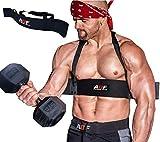 AQF Arm Blaster Bizeps Isolator Langhantelstange Kraftsport Arm Training Bodybuilding Bomber Curl Gym Workout