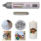 TrendLight  Wachsdesigner silber glänzend 30 ml inkl. ausführlicher Anleitung mit Bilder
