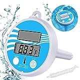 Gafild Digitales Solar Poolthermometer Schwimmendes Poolthermometer Elektronisches Solarthermometer Pool, Spa-Thermometer Schwimmendes Solarthermometer Mit LCD-Anzeige Für Außen- Und Innenpool Und Spa