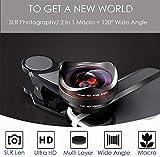 Ultra HD Telefon Kameraobjektiv 2 In 1 Professionelles Kameraobjektiv 15X Makroobjektiv 120 Grad Weitwinkelobjektiv Live-Streaming-Kameraobjektiv für Galaxy Android-Handys (Schwarz)