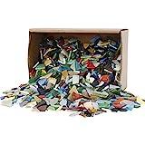 Creativ Company Tempera-Mosaik, Größe 8-20mm, verschiedene Farben, 2kg