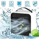 Mini Luftkühler, Vivibel Mobile Klimageräte Mini klimaanlage Ventilator Air Cooler mit USB und Nachtlichtmodus, Raumluftkühler, sehr geeignet für Büro | Camping | zu Hause