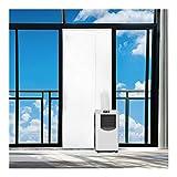 Rhodesy Airlock Türabdeckung Fensterabdichtung für Mobile Klimageräte 90x210 cm, Tür und Fenster tragbare Klimaanlage Türabdeckung Seal Kit, Tür Weiche Tuch-Dichtung