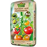 Florissa Natürlich 58578 Bio Tomaten-und Gemüseerde (40 l) | torffrei | mit hohem Aufnahmevermögen für Wärme und Wasser | für aromatische Früchte, Braun