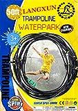 LANGXUN Trampolin Wasser Sprinkler Spiel für Kinder, Sommer im Freien Wasserspiel Spielzeug für Kleinkinder, 50FT 14 Düsen Beschlagen Kühlsystem für Schwimmbad Terrasse Garten Rasen Gewächshaus