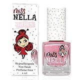 Miss Nella CHEEKY BUNNY abziehbarer Nagellack speziell für Kinder, rosa Glitzer, Peel-Off-Formel, ungiftig, wasserbasiert und geruchsneutral