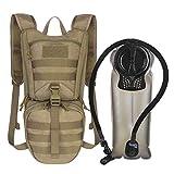 Unigear Trinkrucksack mit 2.5L Trinkblase, taktischer Hydration Rucksack, Fahrradrucksack, Hydrationspack, für Klettern Trekking Radfahren Bergsteigen Outdoor Sports MEHRWEG