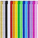 CozofLuv 30 Rollen Kreppbänder Bunt Krepppapier 15 Farben Kreppband bunt Bänder Crepe Paper Papier für Party Feier Weihnachten Dekoration