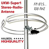 HHQ HalbedlHighQuality UKW-Stereo-Radio-Antenne Runddipol UKW-Super1