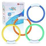 edealing B01M7MNBG7 TM 4 X Unterwasser Schwimmen Tauchen Sinken Pool Spielzeug Ringe Kinder