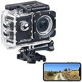 Somikon Action Camera: UHD-Action-Cam DV-3717 mit WLAN, Marken-Bildsensor und App, IPX8 (Fahrrad Kamera)