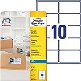AVERY Zweckform schnelltrocknende Adressetiketten (für Tintenstrahldrucker 10 pro Blatt 99,1 x 57,0 mm 250 Etiketten) weiß