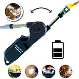 BerryKing Stormfire USB Plasma Flamlos Feuerzeug mit Kindersicherung Lichtbogen elektrisch aufladbar für Kerzen Kamin Anzünder Grillen Camping Outdoor elektrischer Strom Sturmfeuerzeug Stabfeuerzeug
