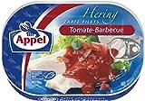 Appel Heringsfilets Tomate-Barbecue, 10er Pack Konserven, Fisch in Tomatencreme mit Schinkengeschmack