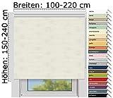 EFIXS Thermorollo Medium - 25 mm Welle - Farbe: leinen (063) - Größe: 200 x 190 cm (Stoffbreite x Höhe) - Hitzeschutzrollo - Verdunklungsrollo