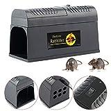 MOMOJA Rattenfalle elektrisch Mäusefalle Professionelle Falle Maus Ratte Batterie Strom Netzteil für Mäuse Kastenfalle