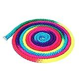Yosoo Springseil Rainbow Color Rhythmische Gymnastik Buntes Seil Ohne Griff Gymnastikseil Exercise & Fitness Aerobic Kunstseil Sporttraining Springseil