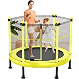 YONIISEA Sports Trampolin Kinder, Gartentrampolin Indoor Kindertrampolin Outdoor Trampolin Mit Sicherheitsnetz Und Randabdeckung Kinder Zum Spielen Abprallen Freisetzen Von Kindernergie