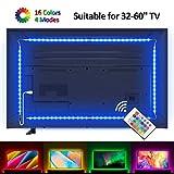 Lampee Led TV Hintergrundbeleuchtung, 2M USB Led Beleuchtung Hintergrundbeleuchtung Fernseher für 32-60 Zoll HDTV, TV-Bildschirm und PC-Monitor mit dimmbaren Farbauswahlen und Helligkeit
