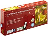 Idena 8582090 - 10 Stück LED Christbaumkerzen zum Klemmen, warm weiß, ca. 9 cm, mit Dimmer und 6 Stunden Timer Funktion, Batterie betrieben, mit Fernbedienung