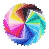 Opret Origami-Papier, 100 Blatt 20 x 20 cm Farbiges Bastelpapier für Weihnachten Origami DIY Kunst und Bastelprojekte, 50 Verschiedene Farben