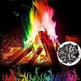 BSMEAN mystisches Feuer Mehrfarben Flamme Pulver Flamme Färben Lagerfeuer Partyzubehör schafft lebendige, regenbogenfarbene Flammen langlebig für den Innen- und Außenbereich