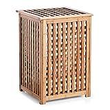 Zeller 13438 Wäschetruhe 40 x 40 x 58 cm, Bamboo