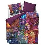 Essenza Bettwäsche Delhi Purple Lila Mandala Patchwork Satin 135 cm x 200 cm