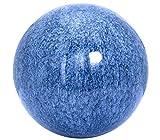 Dehner Edelstahlkugel in Mamor-Optik, Ø 15 cm, blau