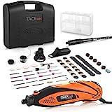 Multifunktionswerkzeug, Tacklife Drehwerkzeug, einstellbare Drehzahl mit 80 Zubehör und 4 Aufsätze, Biegsame Welle für Heimwerkerarbeiten RTD35AC